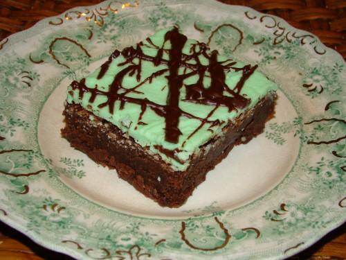 St. Patty's Mint Brownies