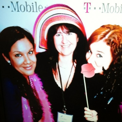 Goofing around in the T Mobile photo booth