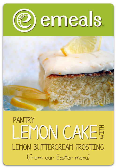 Pantry Lemon Cake with Lemon Buttercream Frosting
