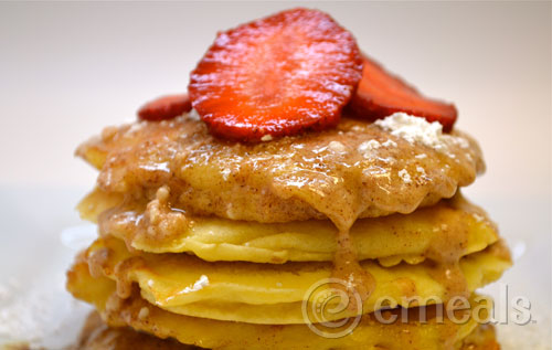 Easter Sunrise Bread Pudding Pancakes