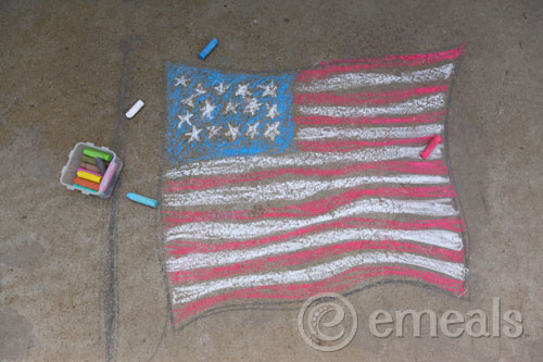 Flag Printables for Chalk Drawings