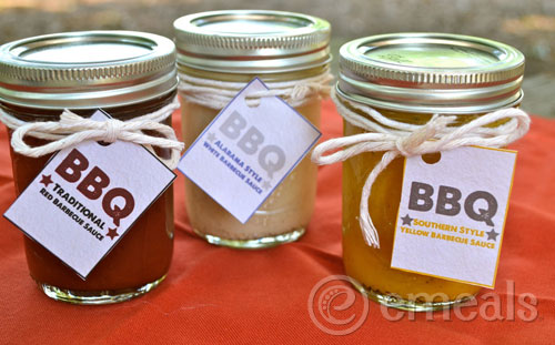 3 Homemade BBQ Sauces with Printable Labels