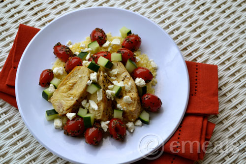 Portion Control Chicken with Feta and Tomatoes