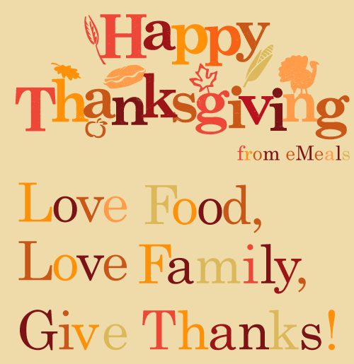 Happy Thanksgiving from eMeals