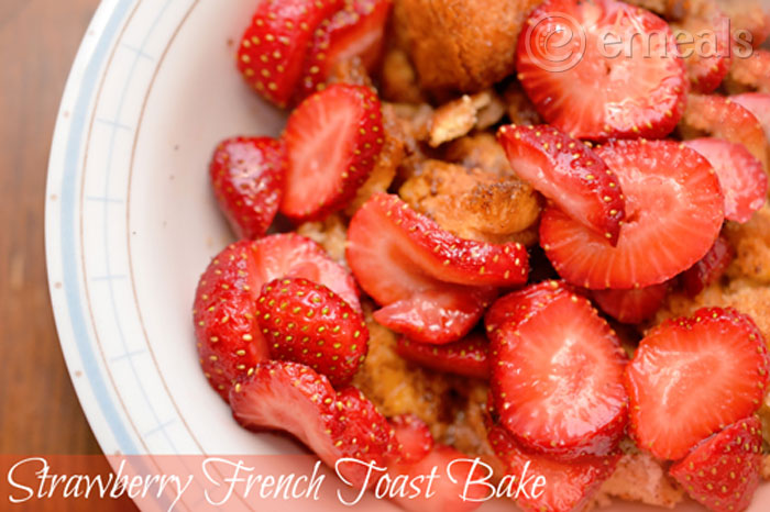 Aldi Meal Plan: Make Ahead Strawberry Baked French Toast Recipe