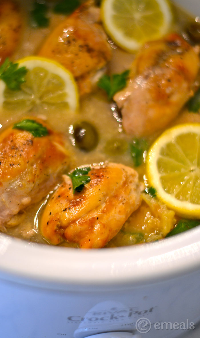 Slow Cooker Clean Eating Meal Plan: Lemon Chicken Thighs with Olives Recipe