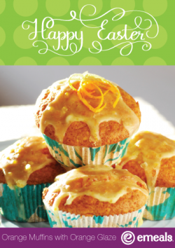 Orange Muffins with Orange Glaze from eMeals Easter Menu