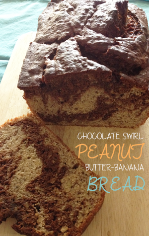 Chocolate Swirl Peanut Butter Banana Bread