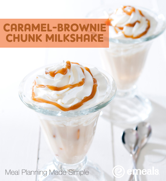 Father's Day Caramel-Brownie Chunk Milkshake
