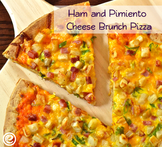 Ham and Pimiento Cheese Brunch Pizza