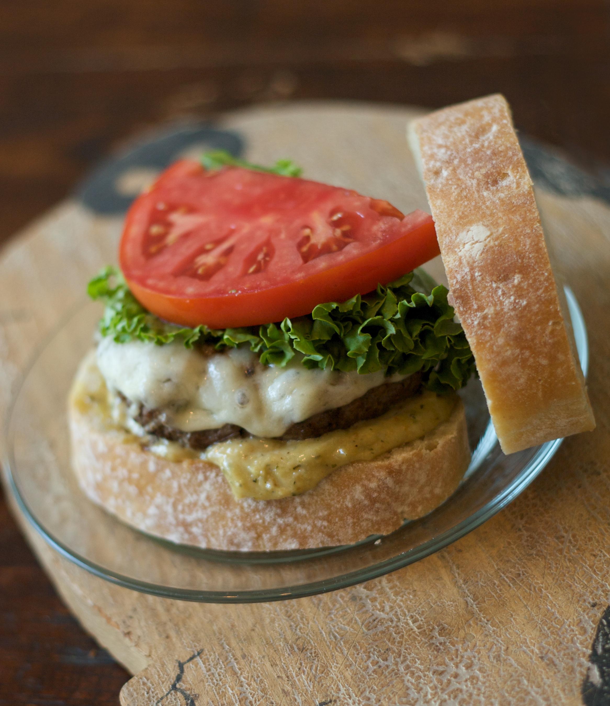 Memorial Day Bruschetta Burgers