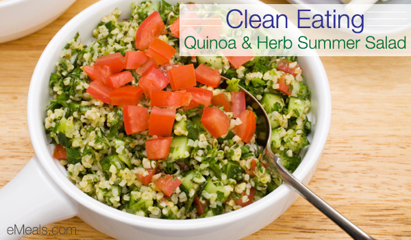 Clean Eating Quinoa and Herb Salad