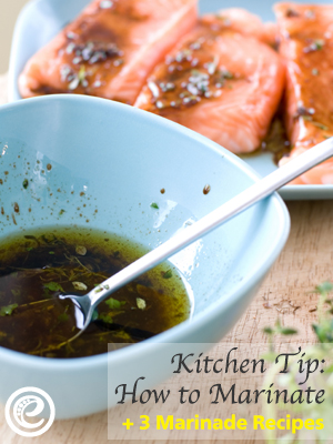 Kitchen Tip: How to Marinate & Three Marinade Recipes