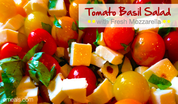 Tomato Basil Salad with Mozzarella