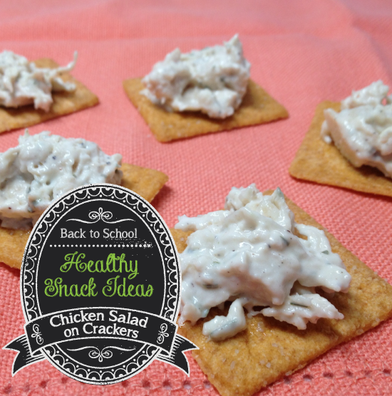 Healthy Snack – Chicken Salad Crackers