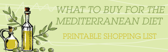 Printable Shopping List: What to Buy for Mediterranean Diet