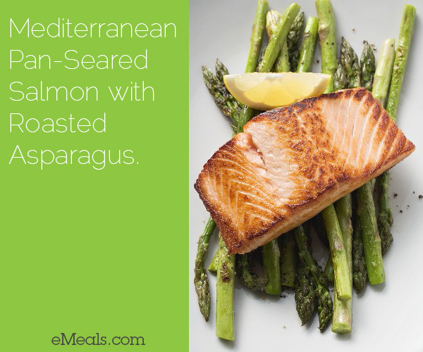 Mediterranean Pan-Seared Salmon with Roasted Asparagus