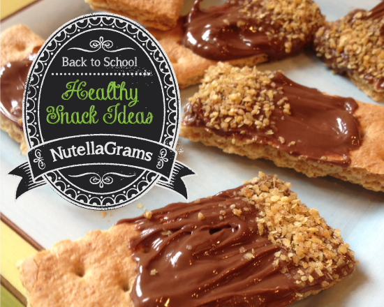 Healthy Snack: Nutella Grahams