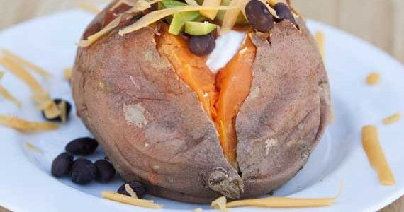 Dorm Recipe: Mexican Stuffed Sweet Potatoes