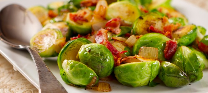 Paleo Roasted Brussels Sprouts with Bacon