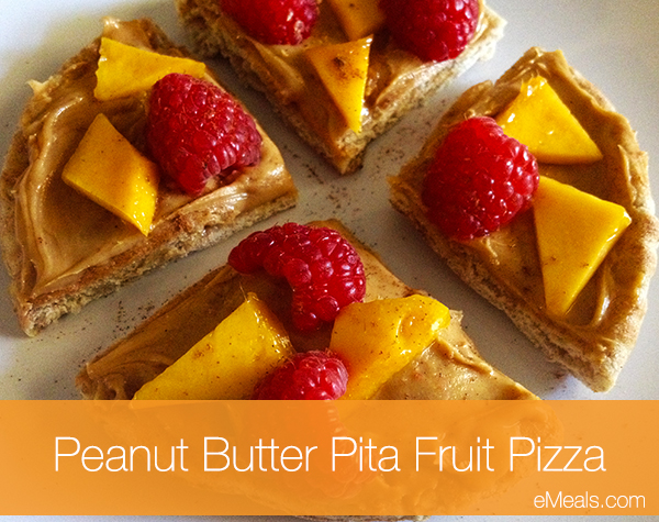 Peanut Butter Pita Fruit Pizza