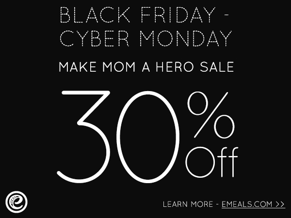 eMeals Black Friday and Cyber Monday Discount