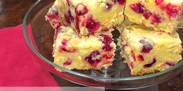 Christmas Cookies: Cranberry-White Chocolate Bars