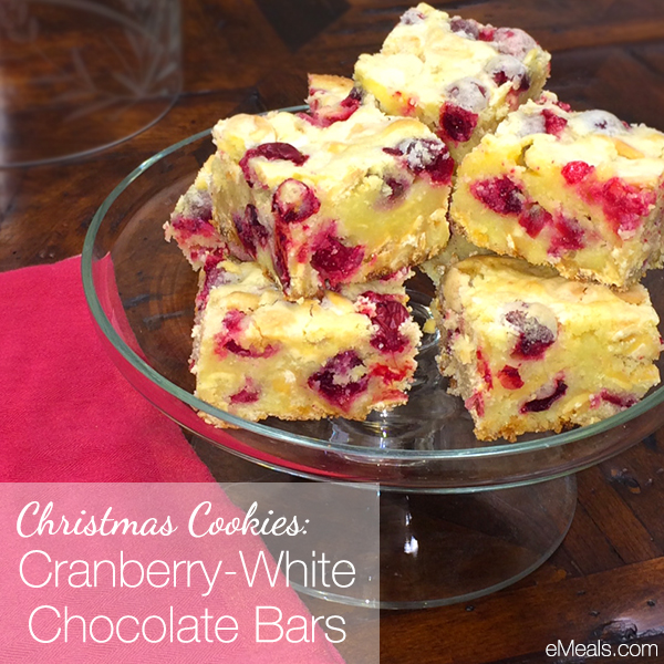 Cranberry White Chocolate Cookie Bars | The eMeals Blog
