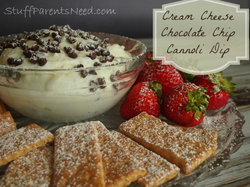 Cream Cheese Chocolate Cannoli Dip