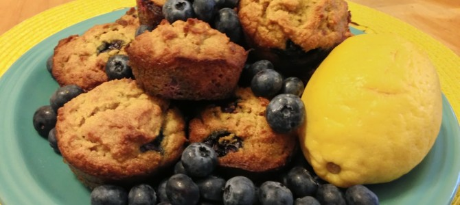 Grain Free Lemon Blueberry Muffins