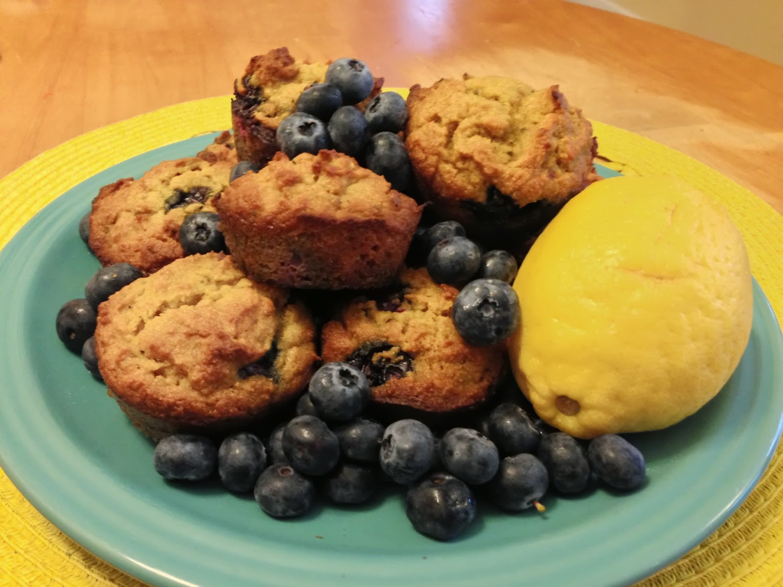 grain free lemon blueberry lavender muffins
