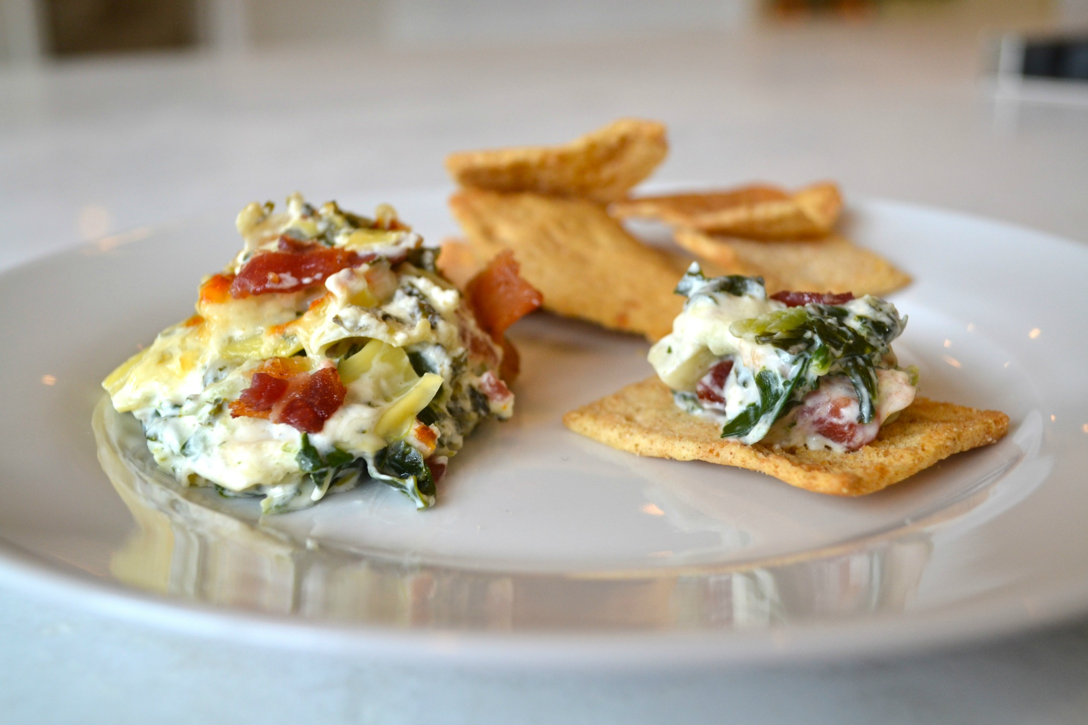 eMeals appetizer: Hot Collard Dip with Bacon