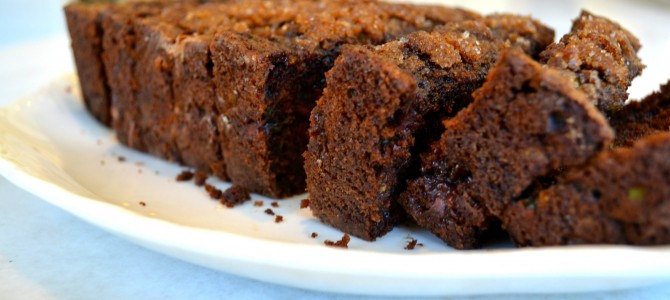 Chocolate Chocolate-Chip Zucchini Bread