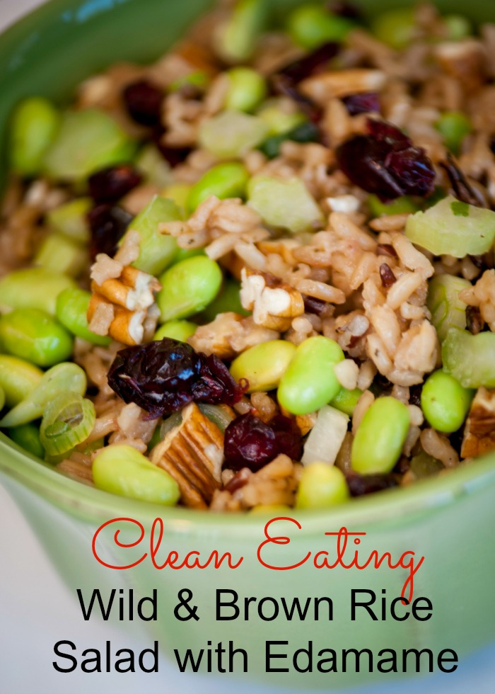 Wild and Brown Rice Salad with Edamame Clean Eating