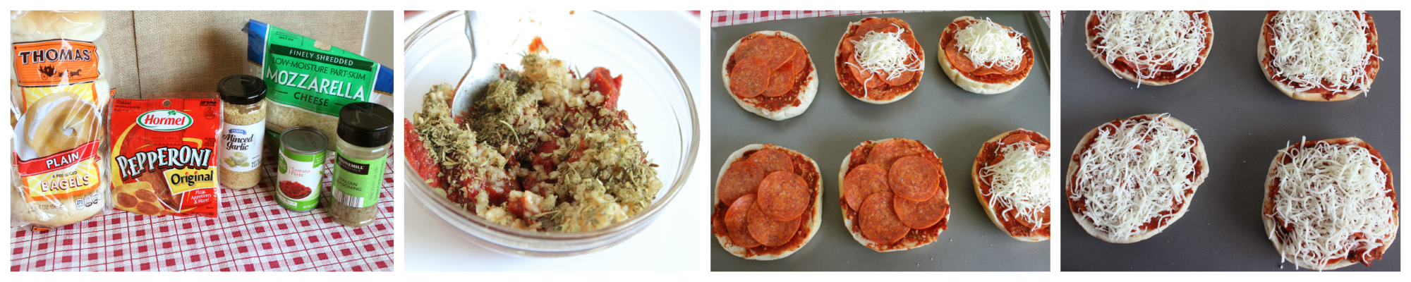 pizza bagels, a great frugal meal from eMeals