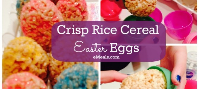 Crisp Rice Cereal Easter Eggs