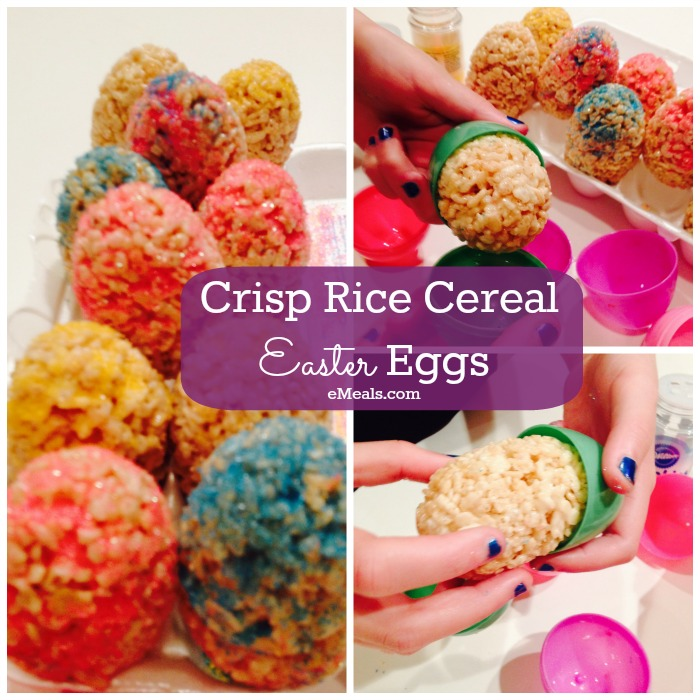 Easter Egg Crispy Treats via eMeals Dessert Plan