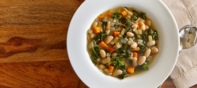 Low Calorie White Bean Kale Soup