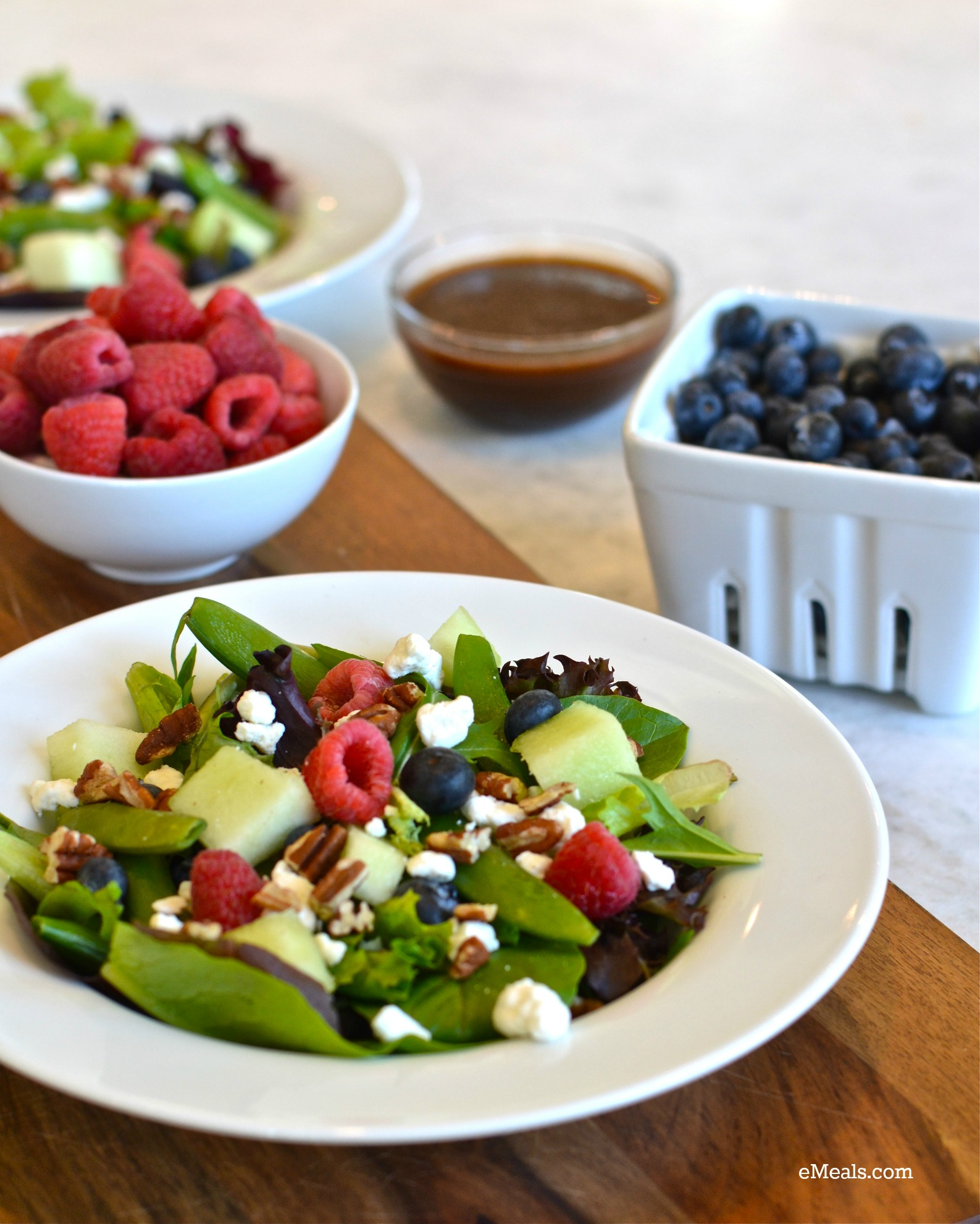 Clean Eating Berry Goat Cheese Salad with Homemade Vinaigrette