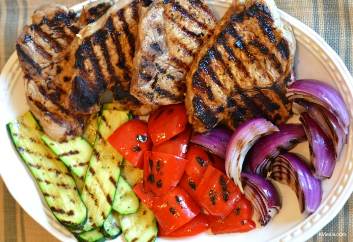 Clean Eating Pork Chops with Zucchini and Peppers