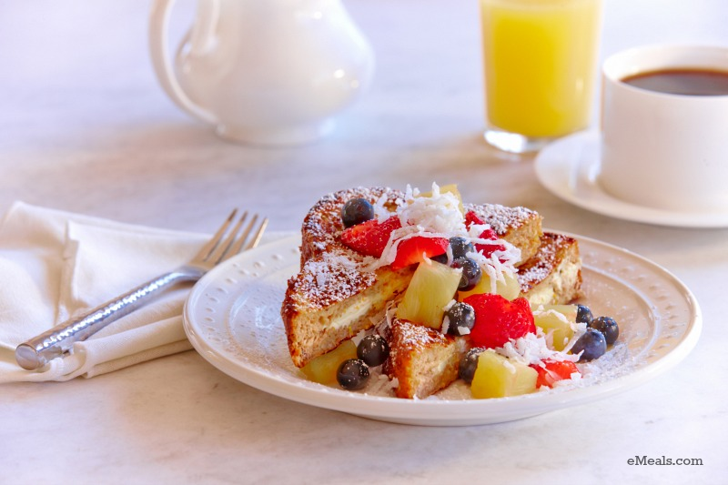 Mother's Day Cream Cheese-Stuffed French Toast