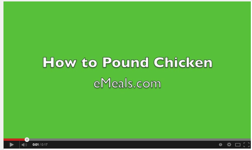 Easy tip for no mess chicken tenderizing