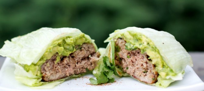 Paleo Southwest Burgers with Guacamole