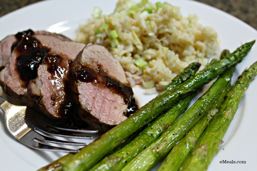 Sweet Soy Pork Tenderloin from the eMeals Diabetic Meal Plan