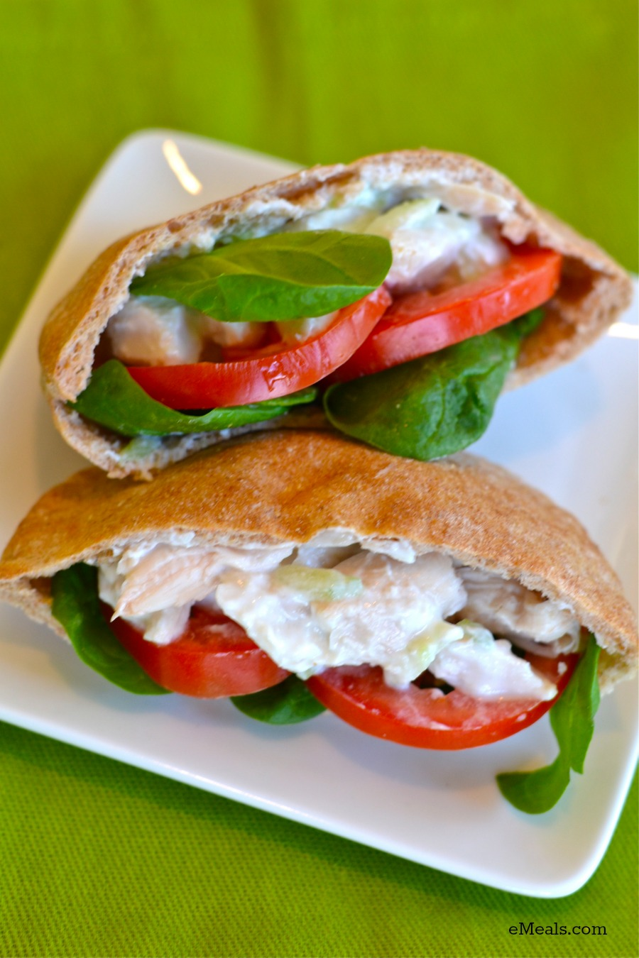 Wholesome Clean Eating Greek Chicken Pita Lunch