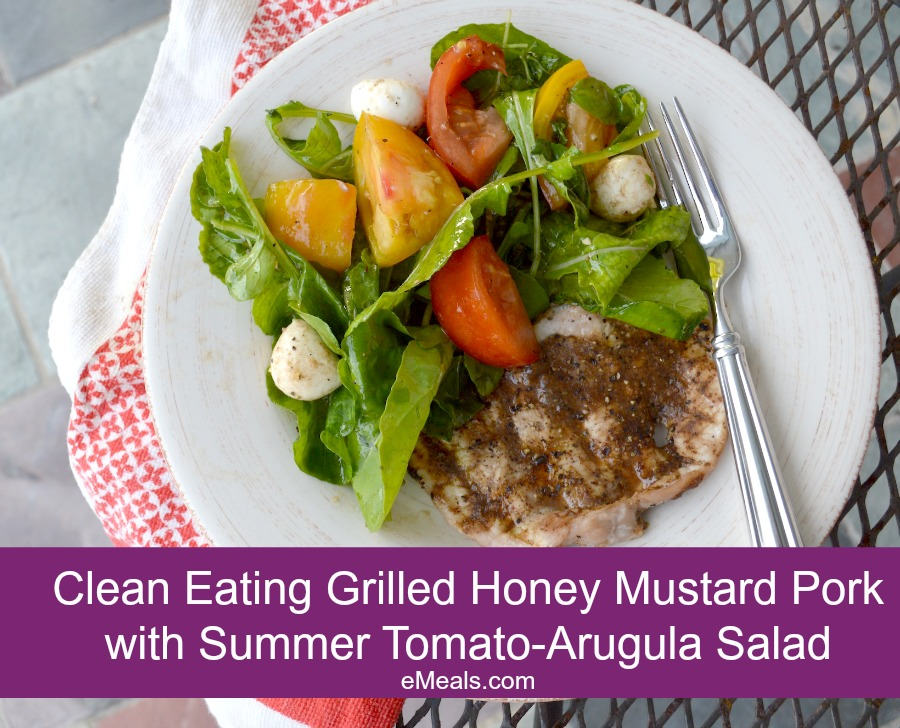 ... Pork Cutlets with Summer Tomato-Arugula Salad | The eMeals Blog