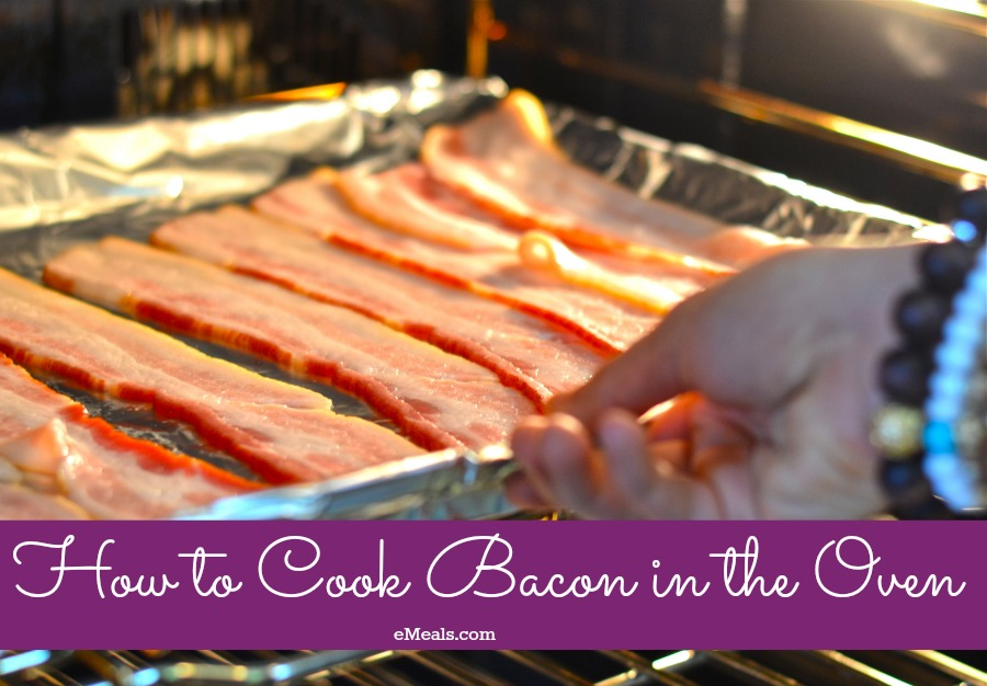 How to Cook Bacon in the Oven to save on cleanup, prep and fat