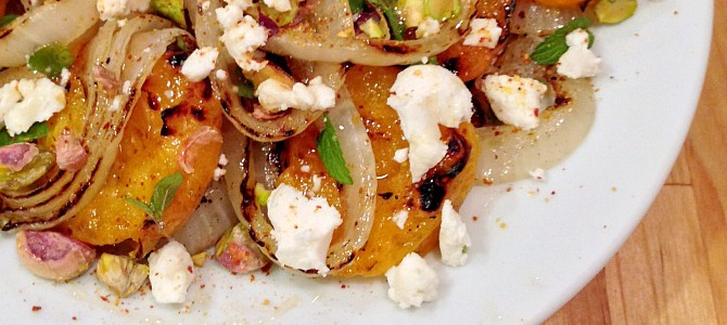 Grilled Onion-and-Apricot Salad