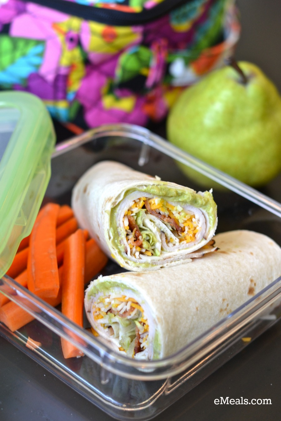 Turkey-Bacon Tortilla Roll-ups from eMeals