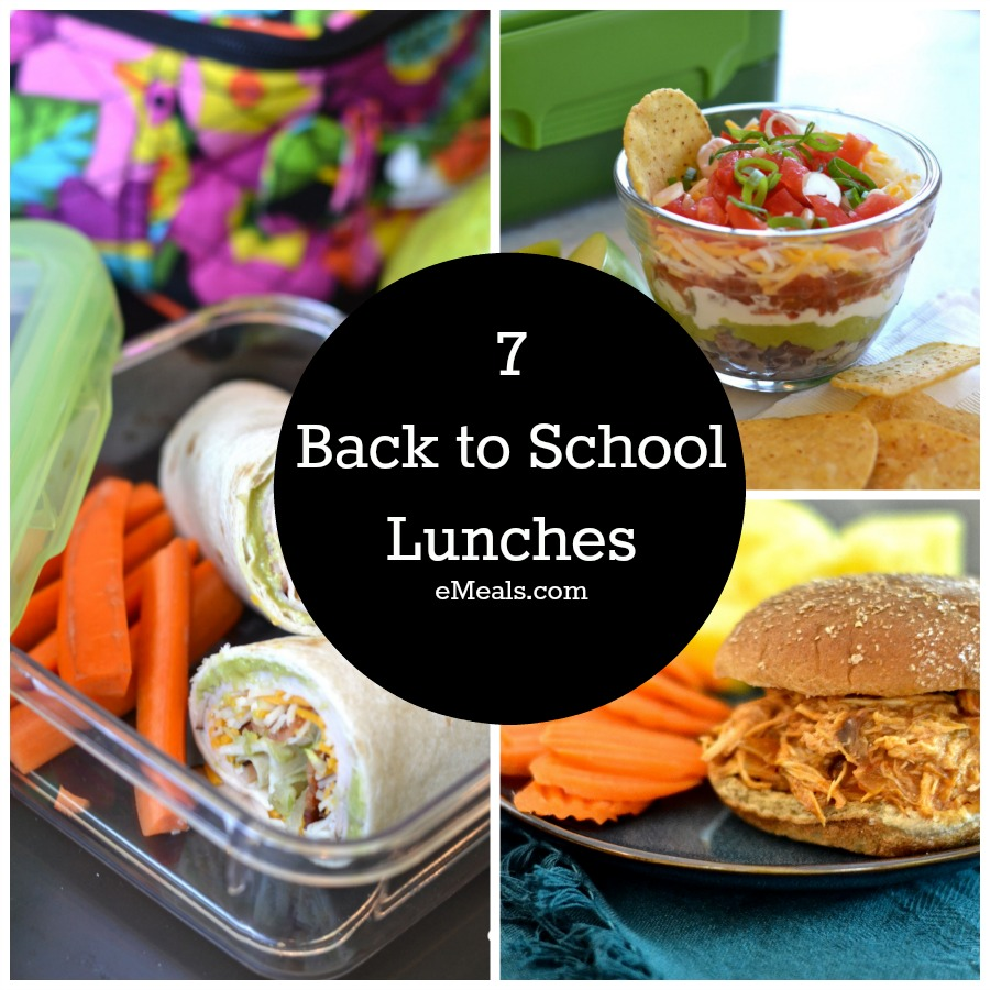 Variety of easy packable lunches for school